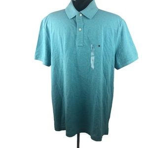 Tommy Hilfiger Men's Custom Fit Teal Polo Shirt